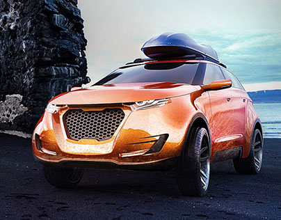 Concept CAR - SYMBIONT - SUV and 3dprint