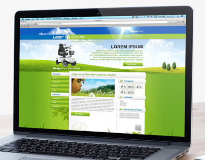 Leier ECO-LINE website design