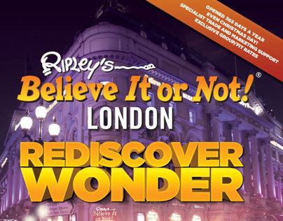 Ripleys London Print Design