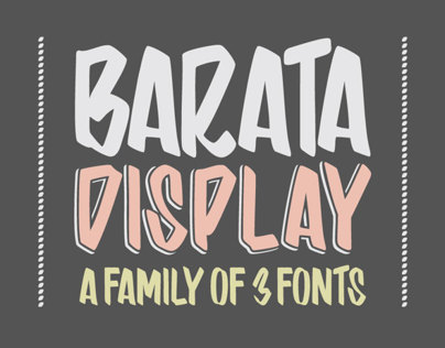 Barata Display Family Font
