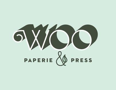 Woo Paperie & Press branding