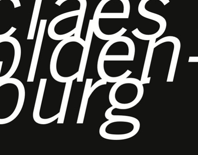 Claes Oldenburg Exhibition Invitation