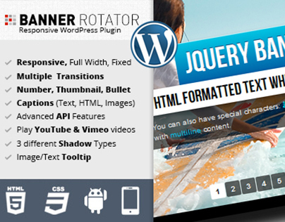 jQuery Banner Rotator WordPress Plugin
