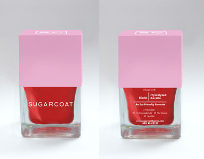 Sugarcoat Nail polish Bottle Design
