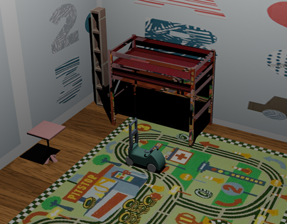 Kids Room (AutoCAD)