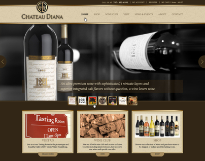 Chateau Diana - web design