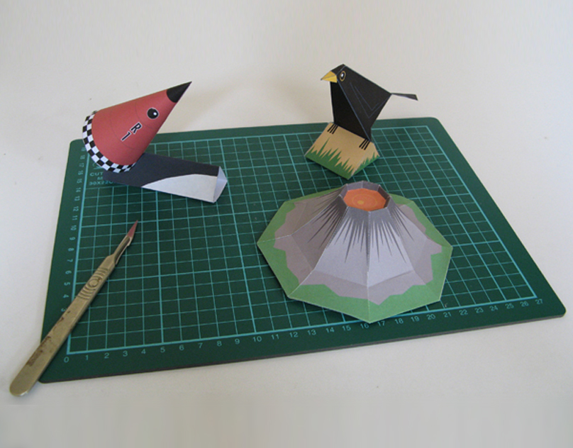 Rocket, Blackbird and Vulcano Paper models