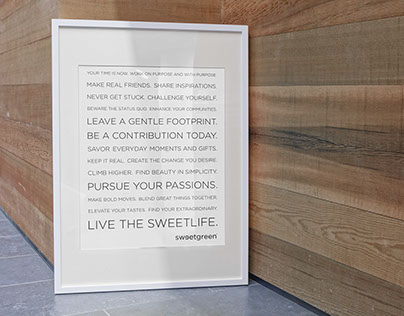 Sweetgreen Manifesto Layout and Design