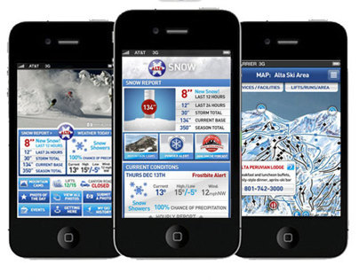 Alta Ski Area - Iphone Ap Design & UX