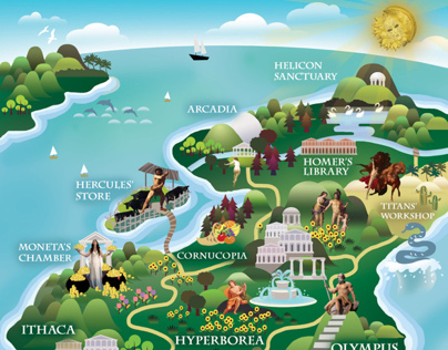 Map of Aonia