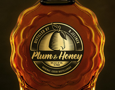 Plum and Honey Brandy Packaging