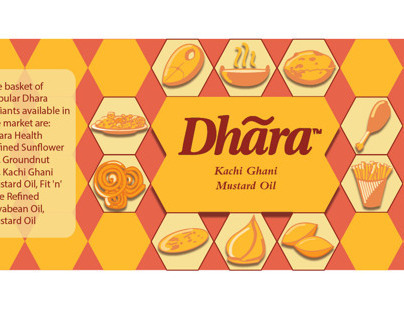 Dhara Oil packaging