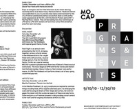 MOCAD Programs & Events Brochure