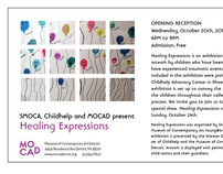 Healing Expressions Flyer for MOCAD