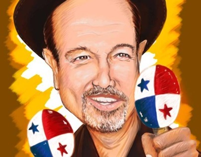 Ruben Blades Cartoon made ​​with Adobe Photoshop