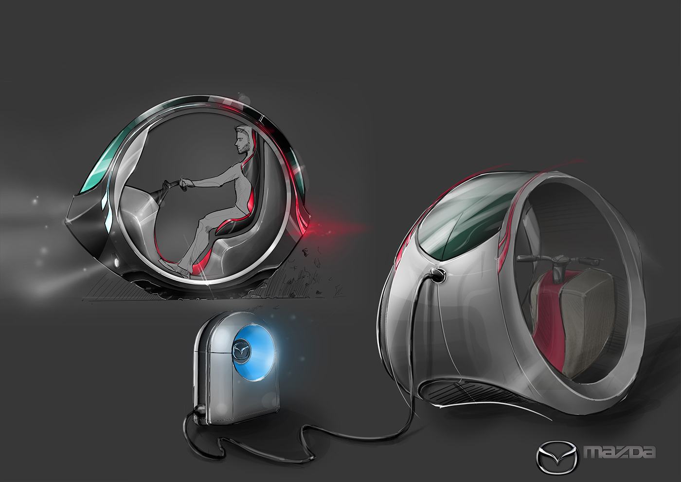 Mazda electric scooter concept