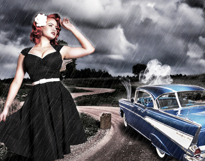 Pin-up Car Trouble