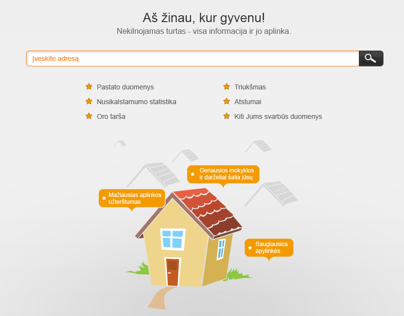 Kurgyvenu.lt website design