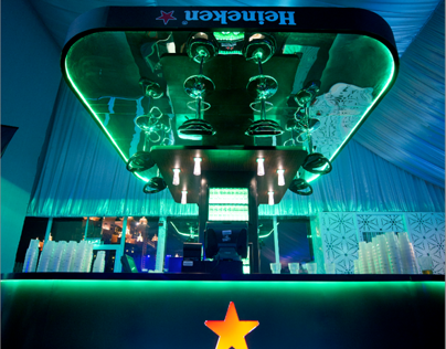 Heineken Upside Down Bar