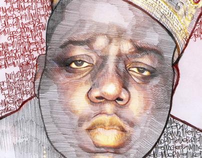 Biggie illustration .. . . R.I.P.