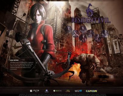 Resident Evil Site Re-Design Concept