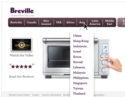 Breville Group Web Site