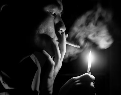 Smoke on fire