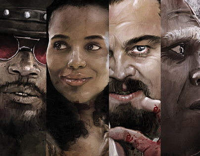 The Art Django Unchained in Movie Posters
