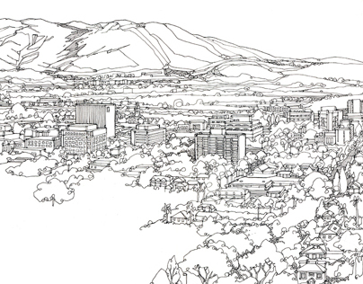 Los Angeles Cityscape Drawings