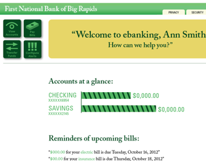 Online Banking Website