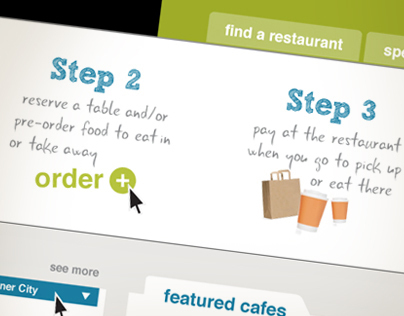 Web Interface for Ordering Food Online