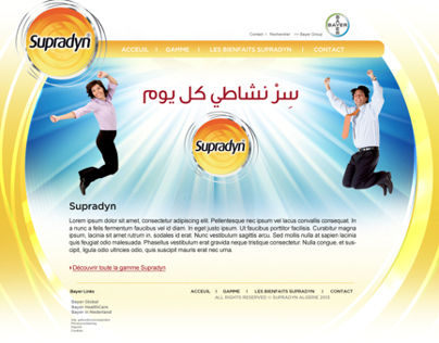 Supradyn Alger website