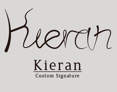Kieran Custom Signature