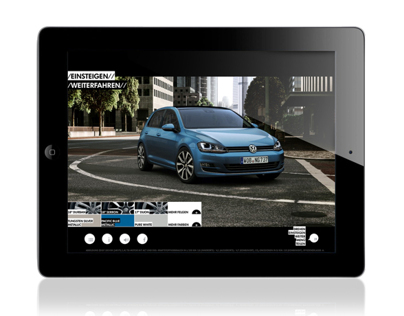 VW Golf 7 iPad Catalogue App