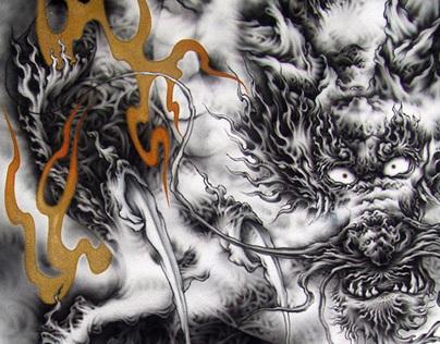 Japanese Dragon~airbrush#1