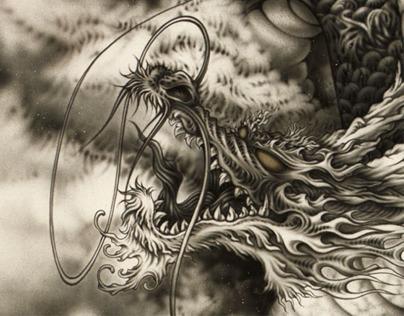 Japanese Dragon~airbrush#2
