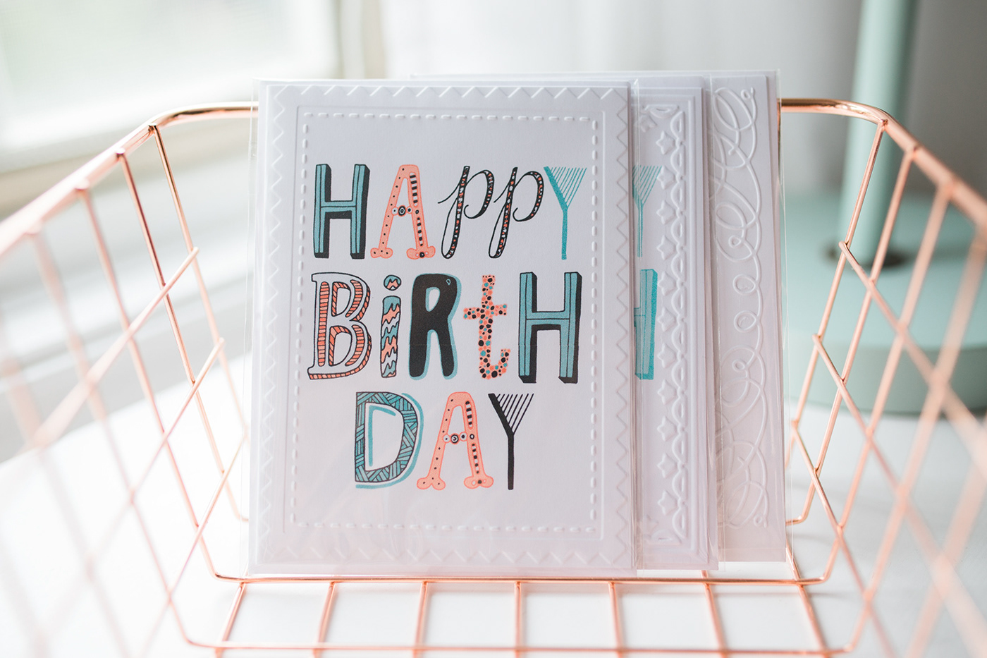 Hand Lettered Happy Birthday Cards