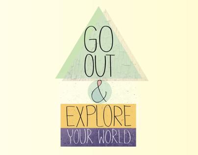 Go Out & Explore - Illustration