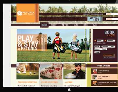 Petunia Golf Resort Web Site
