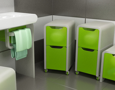 rollbox - modular bathroom furniture