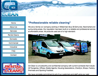 CA Clean Family Business Web Design