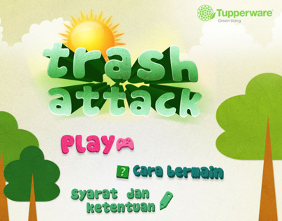 Trash Attack Game Tupperware Concept