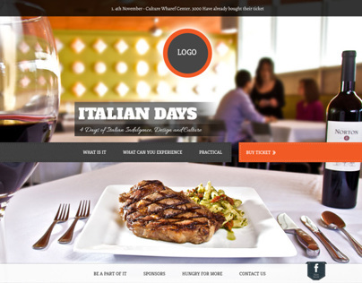 Restaurant : Mock-up UI Design