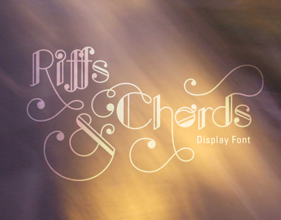 Riffs & Chords: Display Font Design