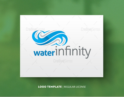 Water Infinity Regular Logos | $30