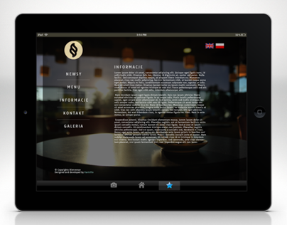 Cafe website design - Cafe