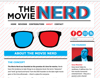 The Movie Nerd | Web Design
