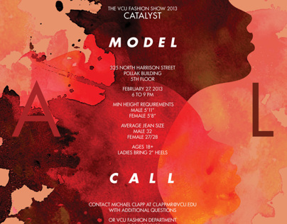 VCU Fashion Show Model Call