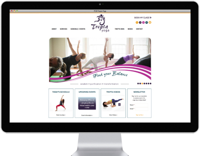 Website design for Yoga Studio