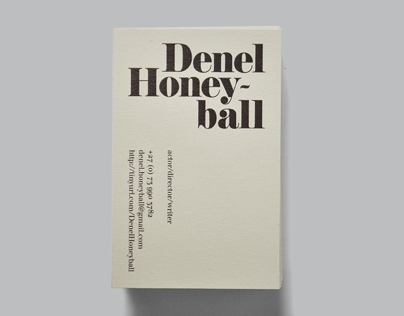 Denel Honeyball Business Cards
